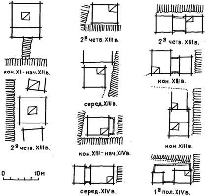 Схемы срубов жилых домов