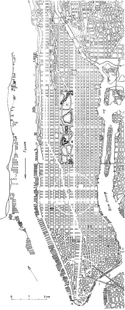 Нью-Йорк. План острова