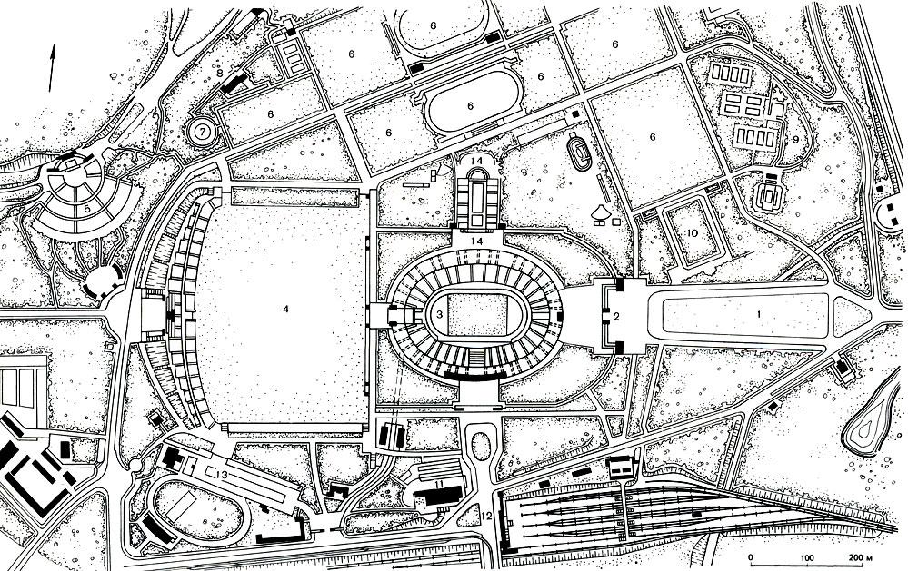 План Олимпийского стадиона в