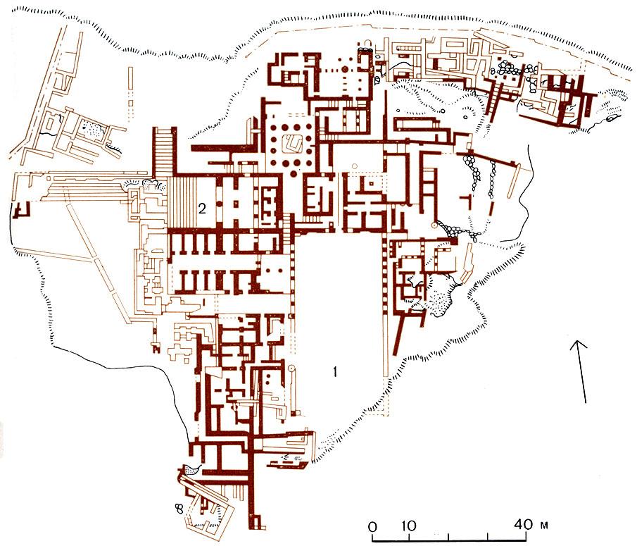 Фест. План дворца в XX-XVII