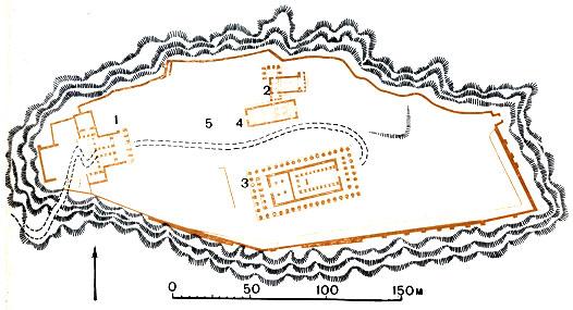 Афины. План акрополя между 421