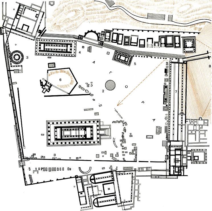План Альтиса в Олимпии.
