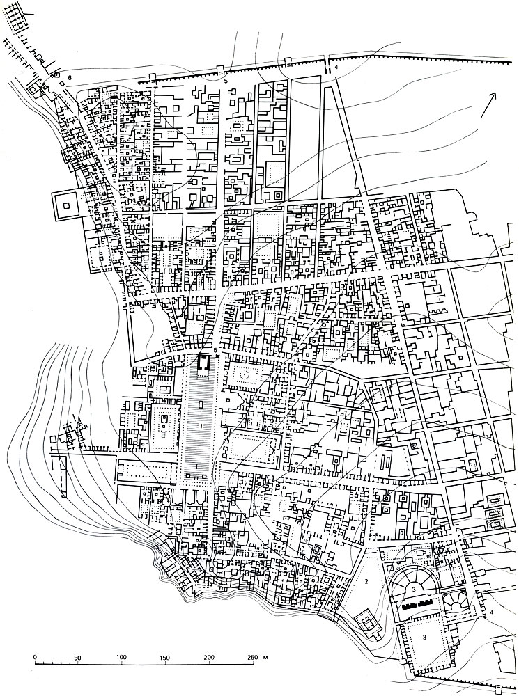 План города на территории,