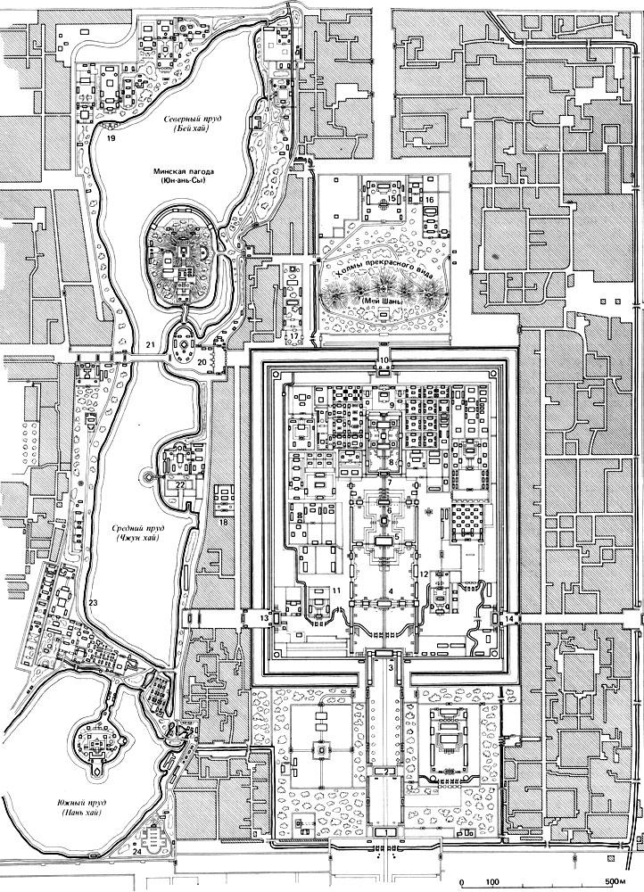 Пекин. План центральной части