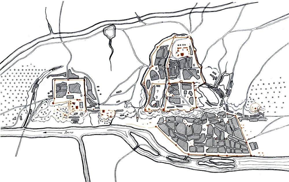 Киев. План города в конце XVII