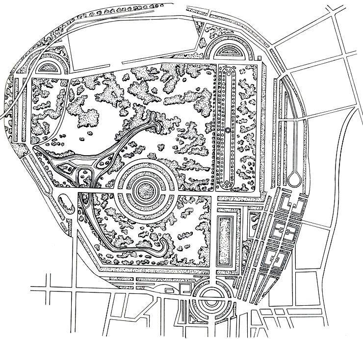 план Ридшентс-парка.