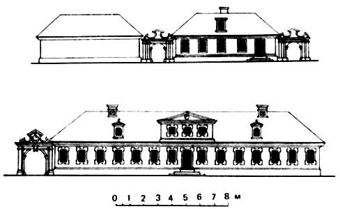 Петербург. Фасады образцовых жилых домов для 'подлых' зажиточных и именитых людей (составлены Доменико Трезини в 1714 г.)