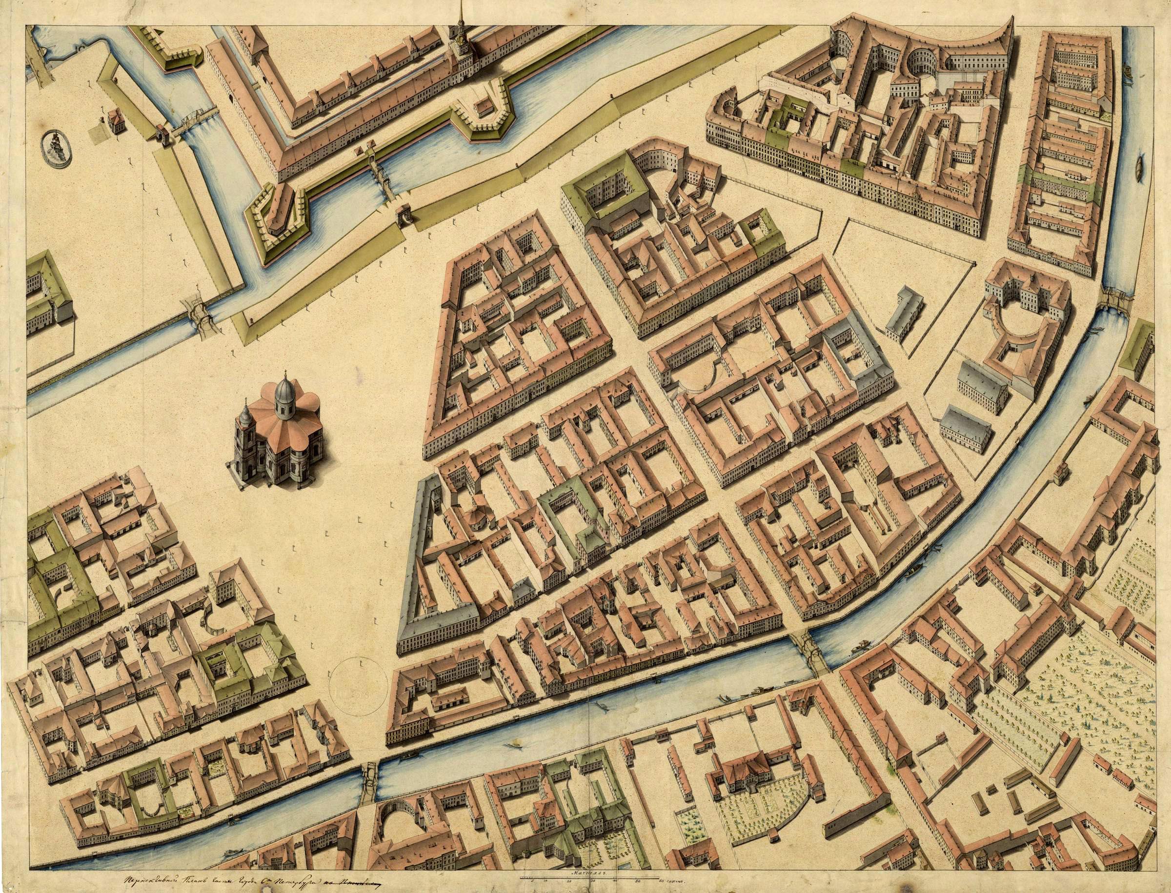 план схема московского особняка начала 19 века