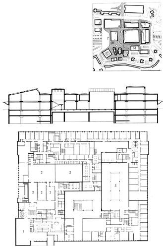 план: 1 - жилые дома;